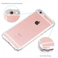 Shock Proof - Clear Hard and soft Case for Iphone 6plus - Brand New