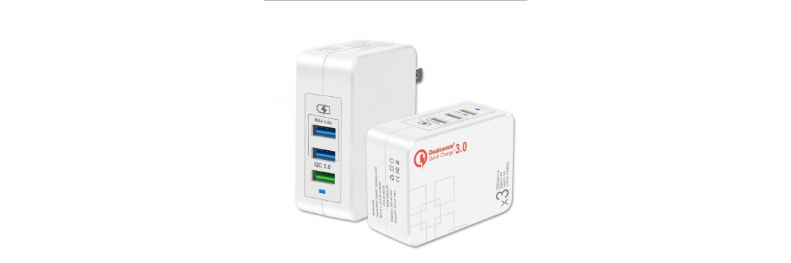 QC 3.0 Quick Charger 3 ports usb charger CE FCC ROHS certified